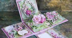 Wiele dni jeszcze do wiosny i do świąt, ale już teraz możemy się do tego przygotować :) Wielkanocny box wykonałam z papierów Stampe... Exploding Box Template, Exploding Box Card, 3d Cards, Pop Up Cards, Easel Cards, Flower Boxes, Flower Cards, Scrapbook Box, Scrapbooking