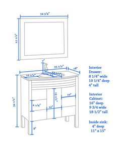 What Is The Standard Height Of A Bathroom Vanity From