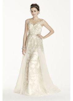 Oleg Cassini Beaded Lace with Tulle Wedding Dress at David's Bridal