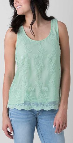 BKE Boutique Embroidered Tank Top - Women's Tops/Tanks   Buckle