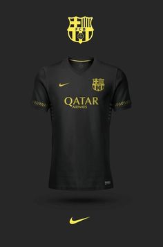 Old concept: Black third kits, player signature below the numbers. Nike Soccer Jerseys, Soccer Uniforms, Nike Football, Messi Soccer, Barcelona Jerseys, Barcelona Soccer, Soccer Kits, Football Kits, Workout Equipment