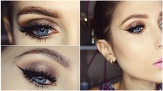 Brown Smokey Eyes ft. Makeup Revolution Flawless Palette GRWM ♥ Makeup T...