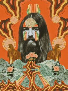 "George Harrison is my favorite beatle.I can't help but cry everytime I hear ""Simply Shady"" off of his solo album, Dark Horse.The guy had passion + a psychedelic Les Beatles, Beatles Art, Psy Art, Beautiful Collage, Happy Hippie, Hippie Art, Happy Birthday George, Retro Aesthetic, Psychedelic Art"