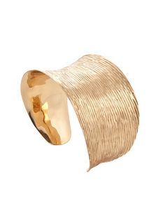 Alchemia by Charles Albert Gold Etched Cuff