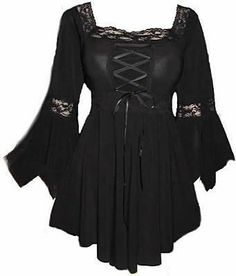 Black Laced Corset Gothic top