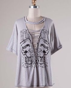 Lace It Up   Free Spirit Distressed Top