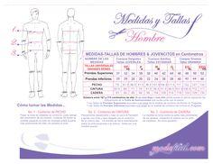 Descarga los cuadros de tallas y medidas de los patrones Modafacil.com
