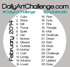 Daily Art Challenge February 2014 Prompts