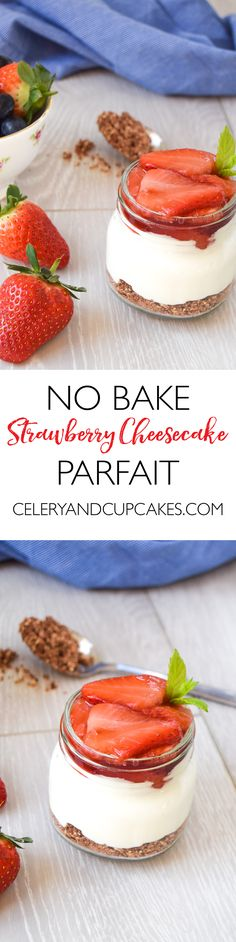 A no bake cheesecake made with soft strawberries, a healthier rich cheesecake filling and an uncomplicated oaty base for texture and crunch.