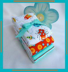Baby Boy Gift Burp Cloth Set on Genuine Gerber by PLMDeZigns, $13.50