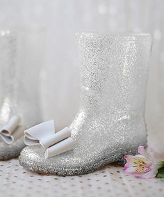 Take a look at this Silver & Clear Fiona Rain Boot - Kids on zulily today!