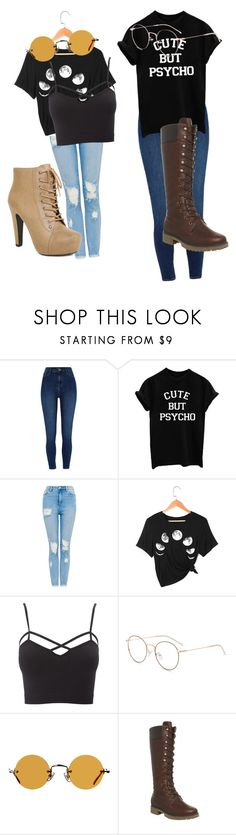 """Black t-shirts"" by aryannaduquist ❤ liked on Polyvore featuring River Island, Charlotte Russe, Hakusan, Timberland and plus size clothing"