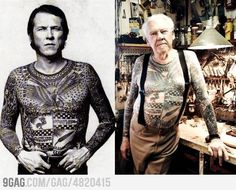 How will your tattoos look at 80? Awesome as f**k!