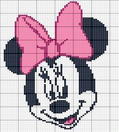 """Child Knitting Patterns Inventory photograph of """"minnie mouse knitting sample"""" B. Crochet , Child Knitting Patterns Inventory photograph of """"minnie mouse knitting sample"""" B. Child Knitting Patterns Inventory photograph of """"minnie mouse knit. Crochet Pixel, Graph Crochet, Crochet Cross, Baby Knitting Patterns, Knitting Charts, Crochet Patterns, Crochet Disney, Disney Cross Stitch Patterns, Cross Stitch Designs"""
