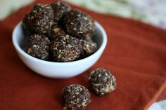 "THESE HEALTHY SNACKS TOOK 10 MINUTES to make, even with my three ""helpers"" on hand. That's not my favorite thing about these no bake balls though. With 4-5 ingredients and instruc…"