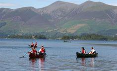Lake District, Keswick, Derwent Water, Canoes
