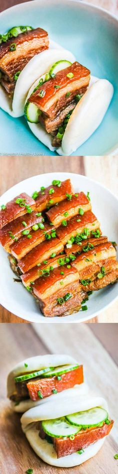 Chinese Five Spice Pork Belly - I make this for special occasions and it always receives rave reviews. Serve with steamed Chinese buns, hoisin sauce and sliced cucumbers for an appetizer ~ http:∕∕jeanetteshealthyliving.com