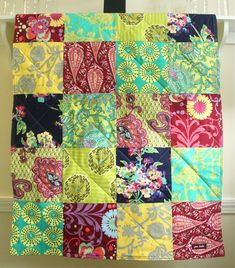 Boho Baby Quilt   Crib Quilt made with Amy by FernLeslieBaby, $98.00