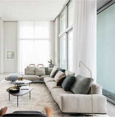 This modern penthouse apartment has monumental dimensions and exudes an air of grandeur, it is a great example of modern Belgian architecture. Dining Room Furniture, Dining Room Table, Furniture Making, Living Room Grey, Living Room Modern, Custom Made Furniture, Penthouse Apartment, Building Design, Interior Design Inspiration