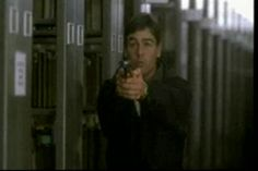 Angel's Dance (1999).  Shouldn't libraries be gun-free zones?  A hit-man in the library....