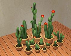 Christmas In July 2015 Gifts | Garden of Shadows | Santa was the lovely Inzey to Marja | The last conversion is Trutjesims' edit of EA's Potted Mexican Cacti. They are all repo'd to Cactus Double, and come in two cacti colours. The pot comes in the yeti palette.