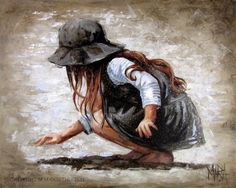 On The Seashore: Maria Magdalena Oosthuizen. Painting People, Painting For Kids, Painting & Drawing, Art Du Monde, Beautiful Paintings, Painting Inspiration, Amazing Art, Watercolor Art, Art Drawings
