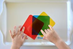 How we Montessori Primary Colours Mixing