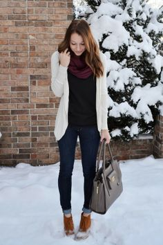 cardigan, scarf, booties | lenore lamé