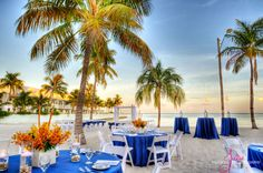 Wedding set up at Southernmost on the Beach in KW <3