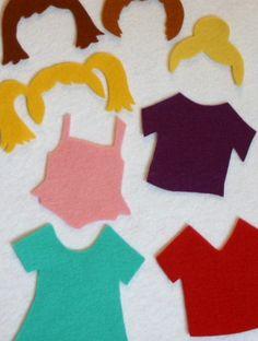 Matilda Felt Doll Set For Flannel Board Or Story Board Play PDF Pattern…