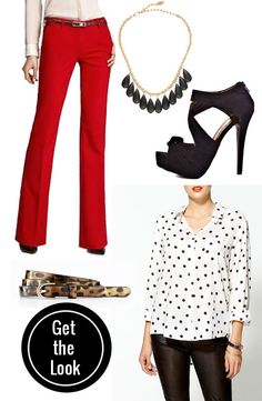 Don't click into. Not worth it.  I just like the red pants with ivory top/ leopard belt