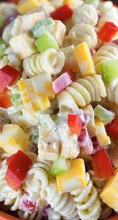 Creamy Cheddar Pasta Salad......