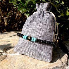 Excited to share the latest addition to my #etsy shop: Mens Bracelets Bracelets For Men Mens Beaded Bracelets Mens Gift Gift For Men Beaded Bracelet Stretch Bracelet Men Jewelry Male Bracelets #jewellery #bracelet #black #round #blue #unisexadults #gemstone
