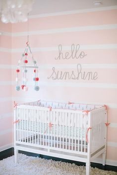 Trendy Baby Girl Beedrom ideas children's room striped walls 65 ideas - # wall design - baby room ideas - My Website 2020