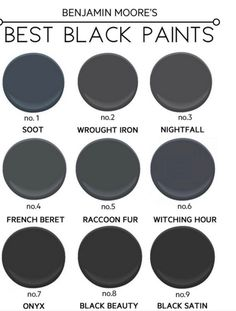 SHUTTERS - The Best Black Paint Colours from Benjamin Moore. Popular shades  like soot and onyx - which one is the right fit for you?