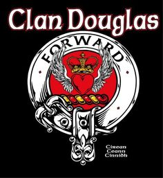 "douglas crest plaque | Clan Douglas ""Forward"" Crest Badge V-Neck Shirt - Ladies The ""prettier"" of the 2 Douglas crests, in my opinion, but not commonly found."