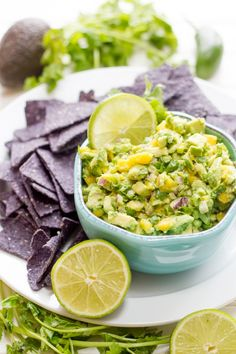 Mango Guacamole is a sweet and fruity twist on the traditional party dip. Make it using Avocados From Mexico for the best flavor!