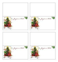 Marque-place de table réveillon de Noël à imprimer