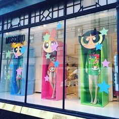 """MOSCHINO,London,UK, """"The Powerpuff Girls... We Can do It"""", pinned by Ton van der Veer"""