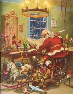 1958 Jolly Old Santa Claus Softcover Book..