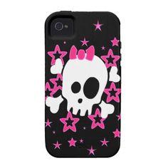 Girlie White Skull iPhone 4/4S Case