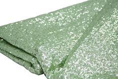 10 yards GLITZ Sequins Fabric Bolt - Mint Green