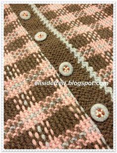 Baby Knitting Patterns, Lace Knitting, Knitting Stitches, Crochet Patterns, Crochet Blouse, Knit Crochet, Tricot D'art, Braided Scarf, Moss Stitch