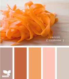 VERY cool site - find an infinite number of color palettes (and a photo illustrating them) based on your preferences. design-seeds.com