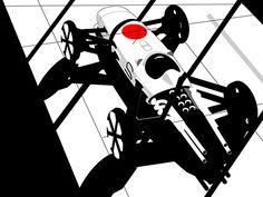 1964-1968 | Honda RA (271/272/273/300) Re-Design | Illustration...