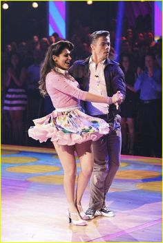Derek Hough & Bethany Mota - dance the Jive - Dancing With the Stars - Season 19 - week 1 - fall 2014