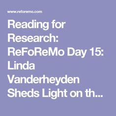 Reading for Research: ReFoReMo Day 15: Linda Vanderheyden Sheds Light on the Lyrical Side