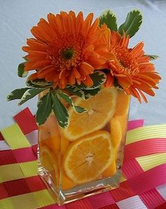 I love this summer time centerpiece idea for those patio gatherings!!!