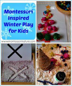 Montessori Nature: Montessori Inspired Winter Play for Kids | Fine Motor | Sensory Play | Quiet Activities for Kids