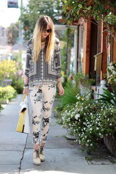 estampas Jeans Brands, Printed Pants, Denim Outfit, Mixing Prints, I Love  Fashion a0c5a8a3a9